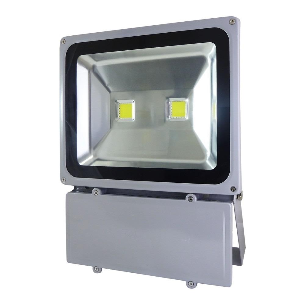 RefletorHolofote SuperLedBranco Frio 100W  2 Leds IP65