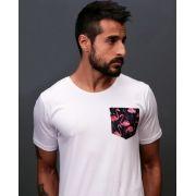 Camiseta Flamingos Pocket