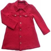 Trench Coat Feminino Metalassê Vermelho