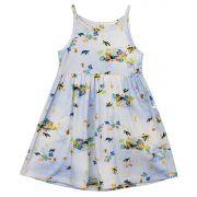 Vestido Alcinha Estampa Digital Tartarugas Infantil