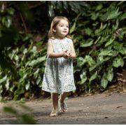 Vestido Cavado Estampa Digital Pássaros Infantil