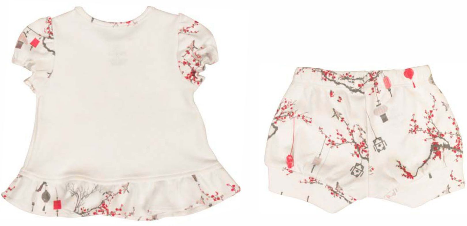 Conjunto Curto Feminino Blusa + Short Jardim Japonês