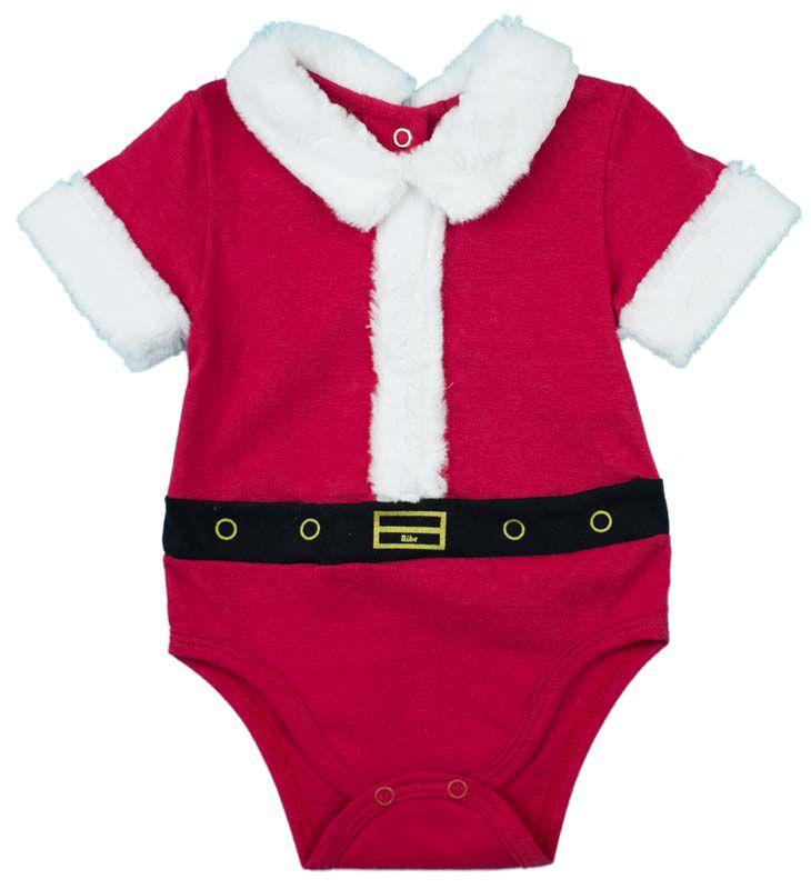Body Unissex Manga Curta Algodão Egípcio Papai Noel