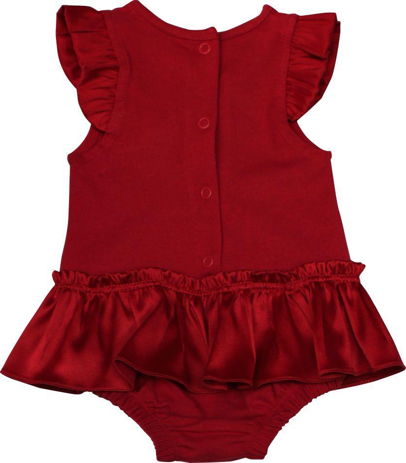 Banho de Sol Feminino Cotton Vermelho Renda