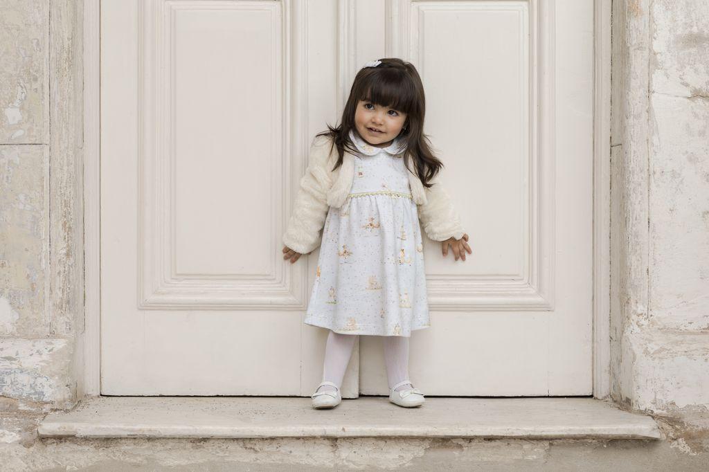 Bolero Feminino Pelúcia Infantil Off White