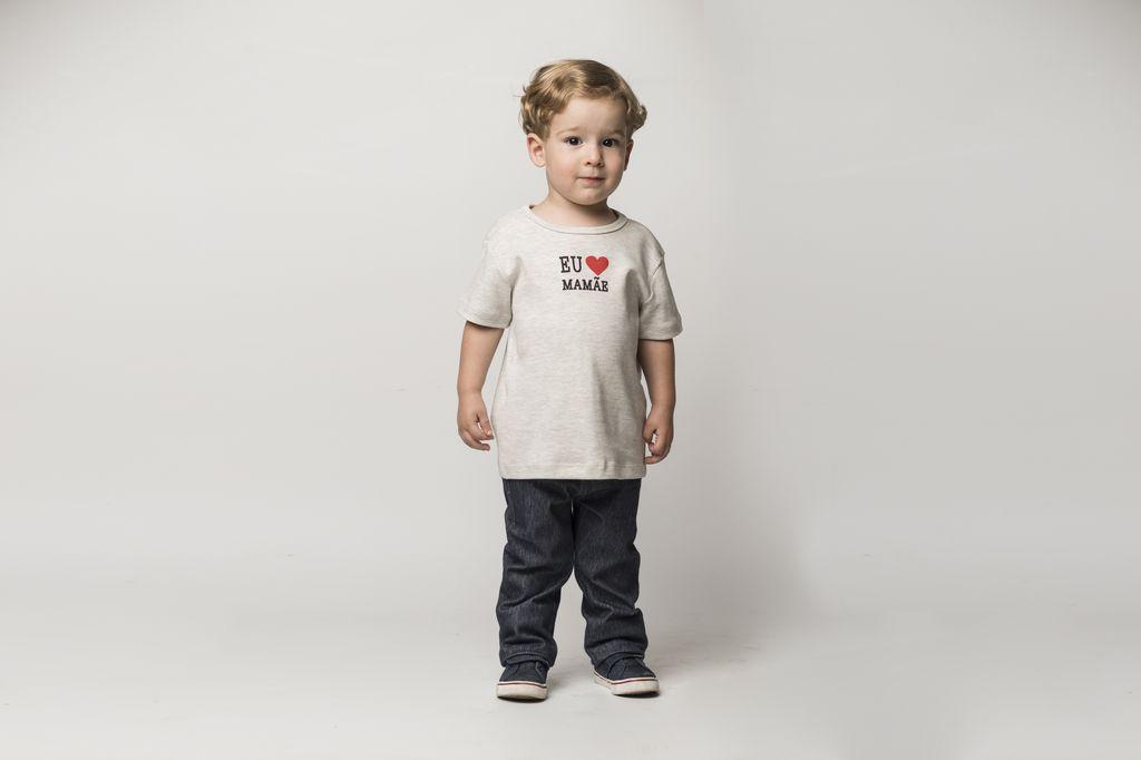 Calça Reta Jeans Masculina