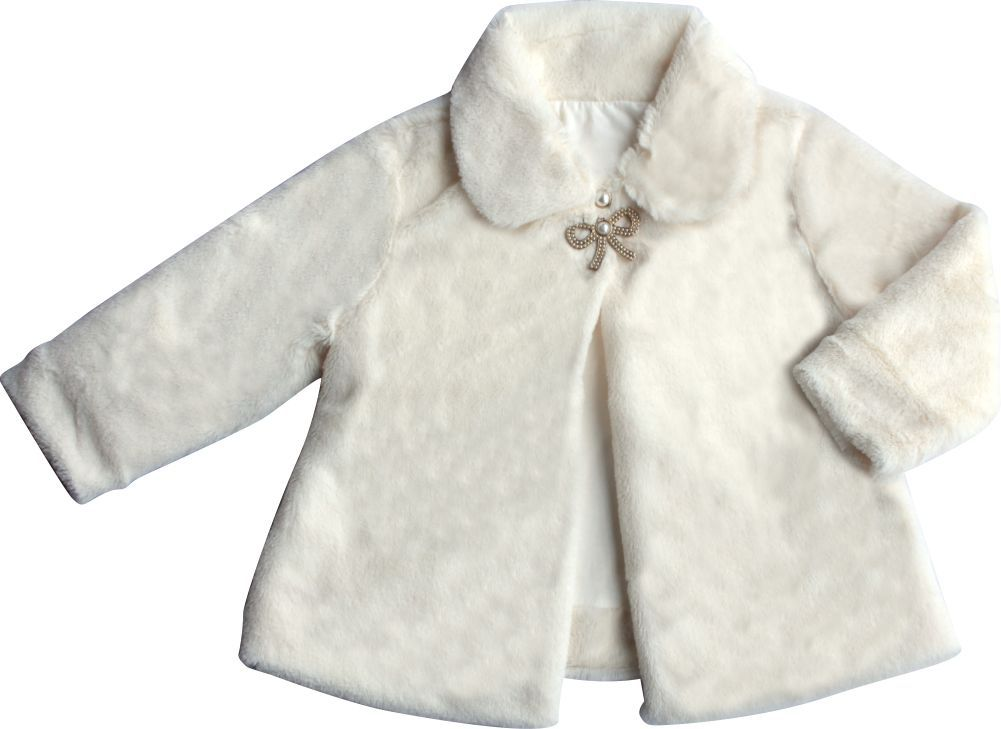 Casaco Feminino Pelúcia Infantil Off White
