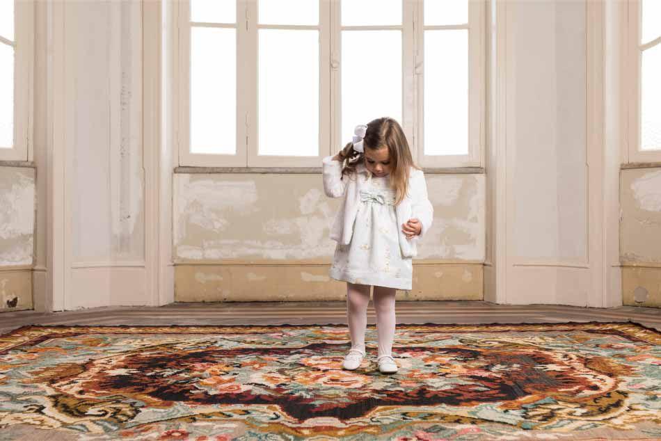 Casaco Feminino Pelúcia Infantil Branca