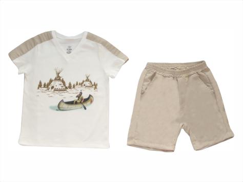 Conjunto Masculino Camisa+Bermuda Índio