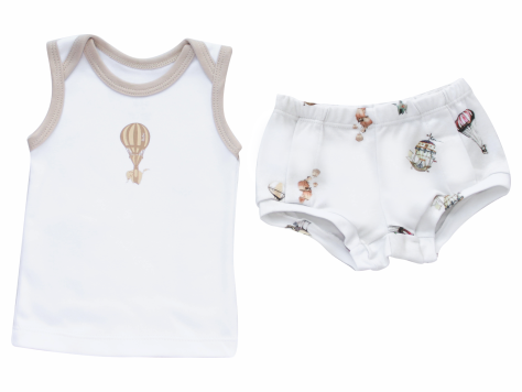 Conjunto Masculino Camisa+Tapa fralda Balões