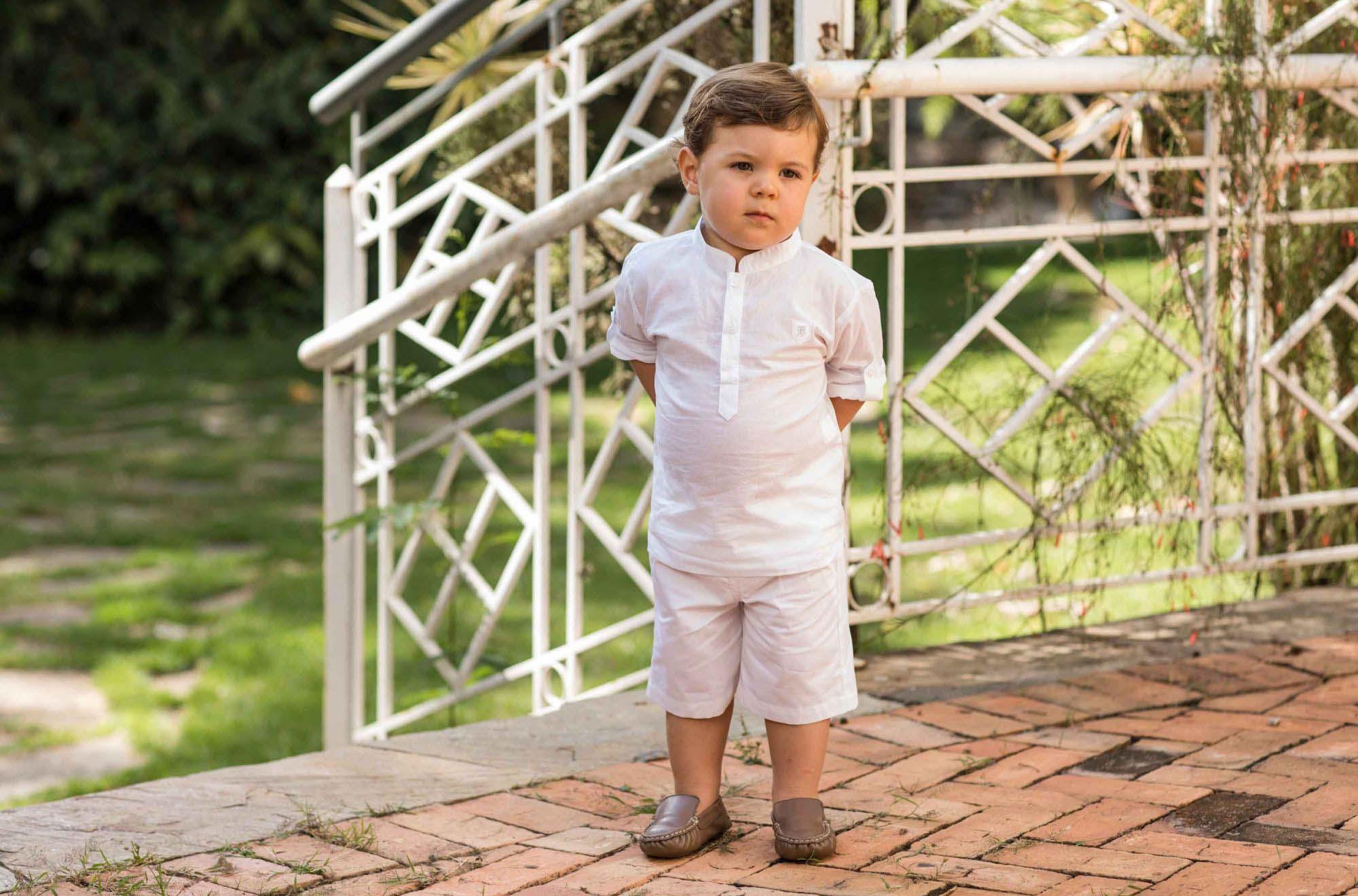 Conjunto Curto masculino Batizado Bebê