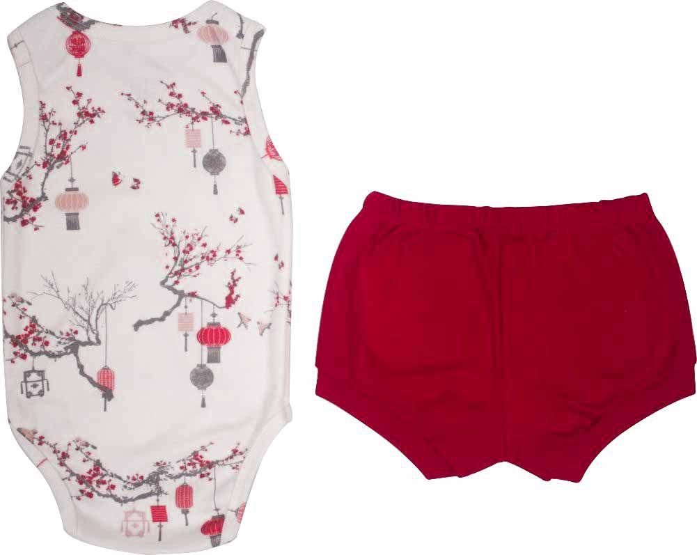 Conjunto Feminino Body + Short Jardim Japonês