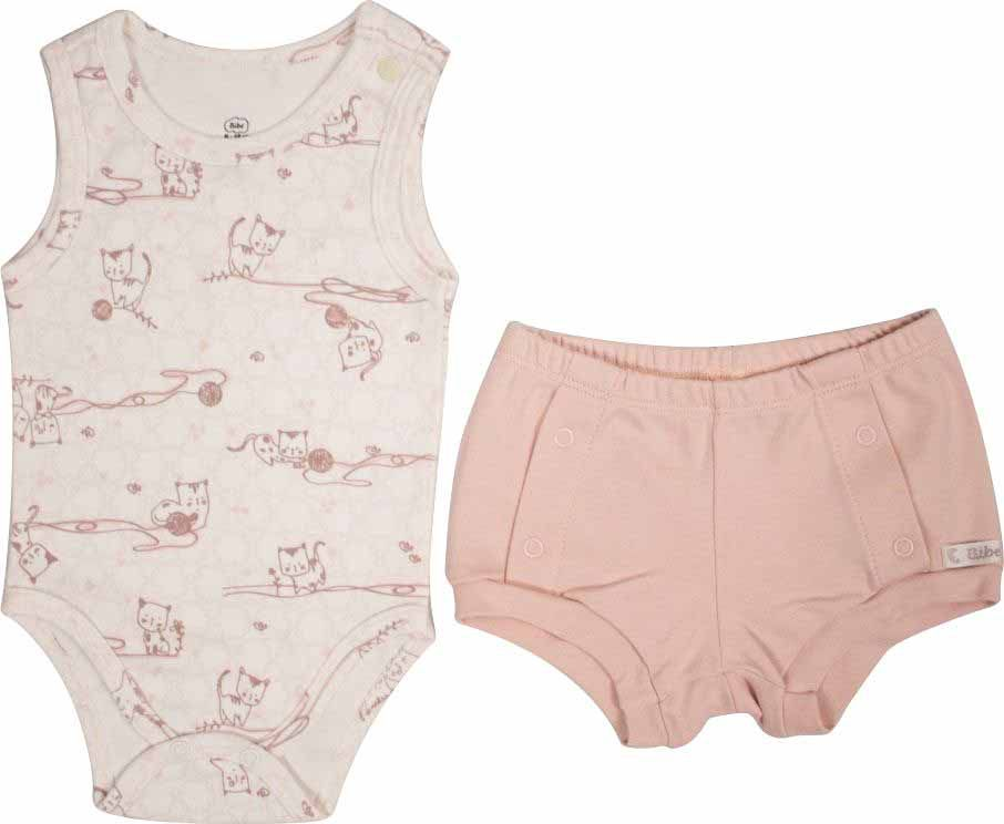 Conjunto Feminino Body + Short Little Cats