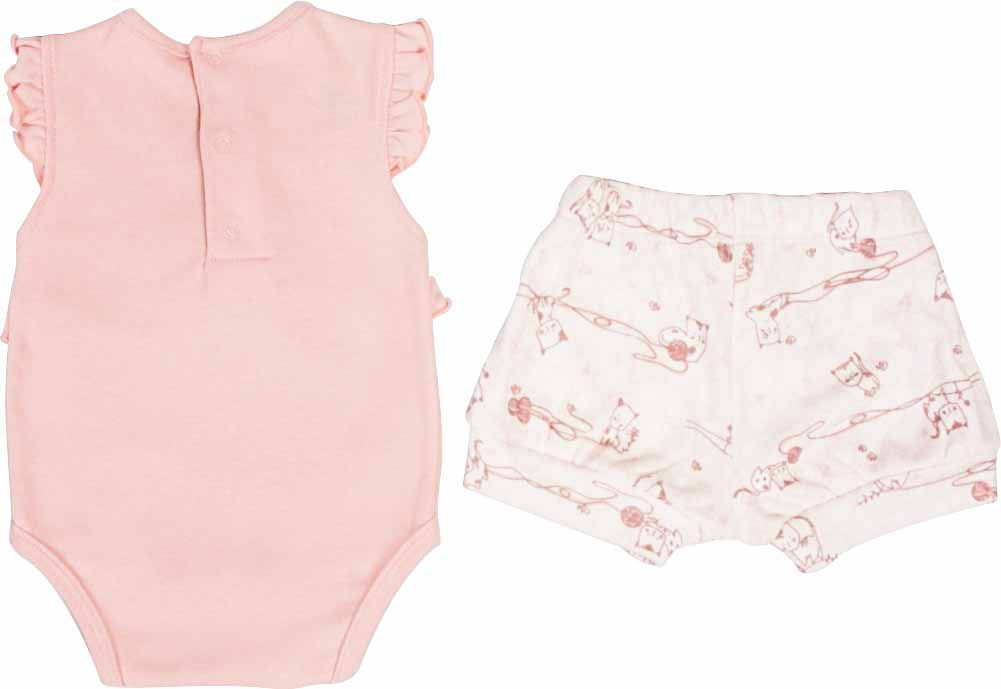 Conjunto Feminino Body + Short Little Cats BY BIBE