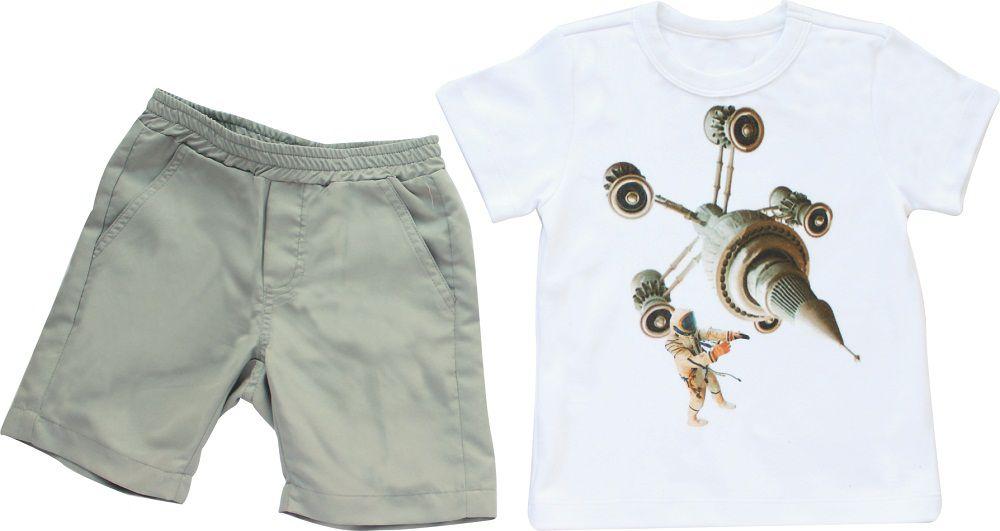 Conjunto Masculino Camisa + Bermuda Astronauta