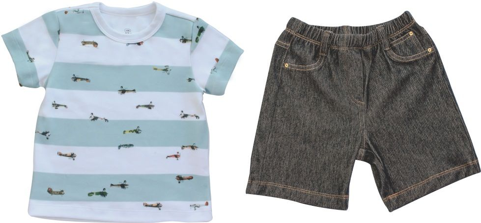 Conjunto Masculino Camisa + Bermuda Jeans