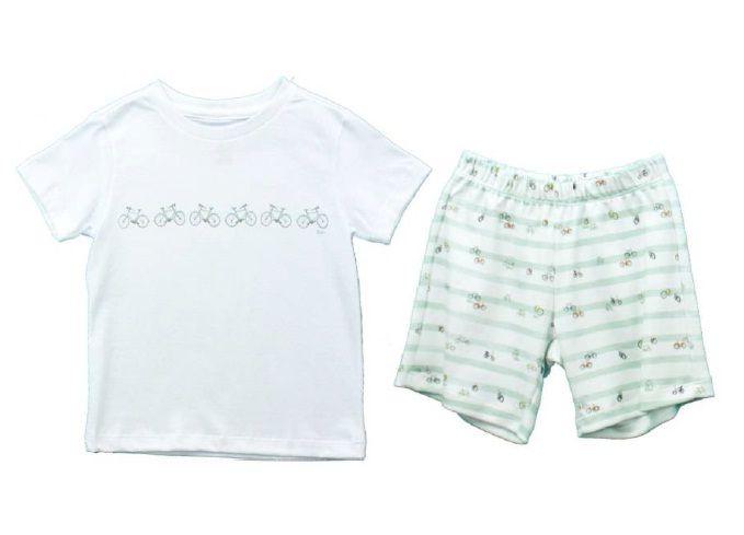 Conjunto Masculino Camisa + Short Estampa Bicicletas Infantil