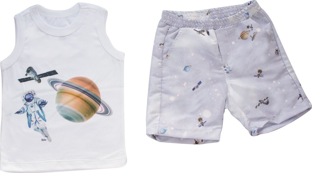 Conjunto Masculino Regata+ Bermuda Astronautas Infantil