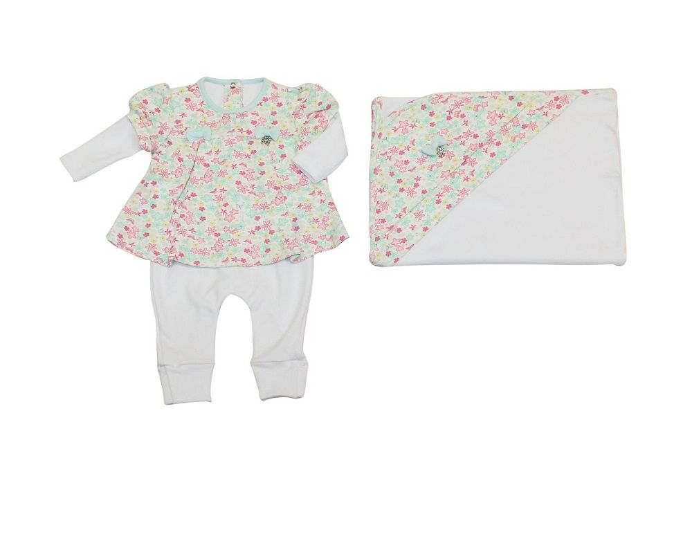 Conjunto Maternidade Feminino Com Forro Floral