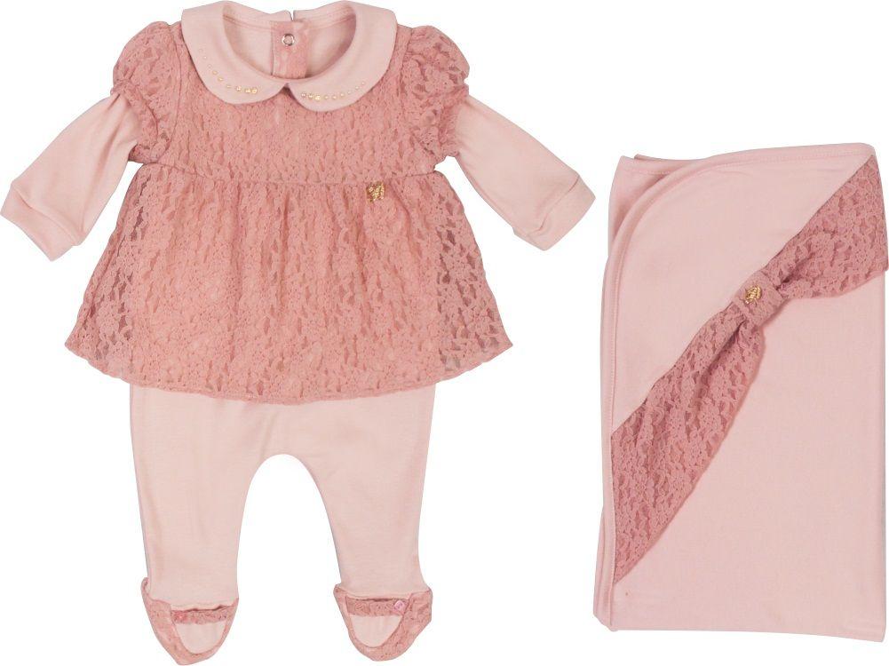 Conjunto Maternidade Feminino Sem Forro Falso Vestido