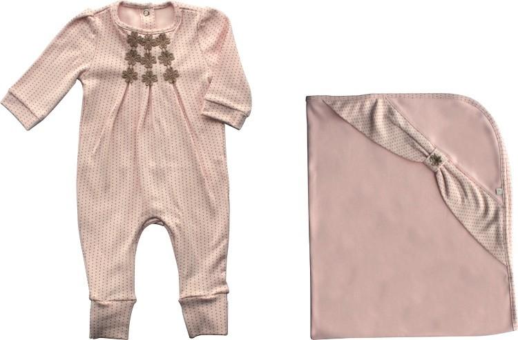 Conjunto Maternidade Feminino Sem Forro Suedine Mini Dots