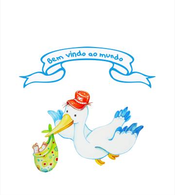 Conjunto Maternidade Masculino Sem Forro Borboletas