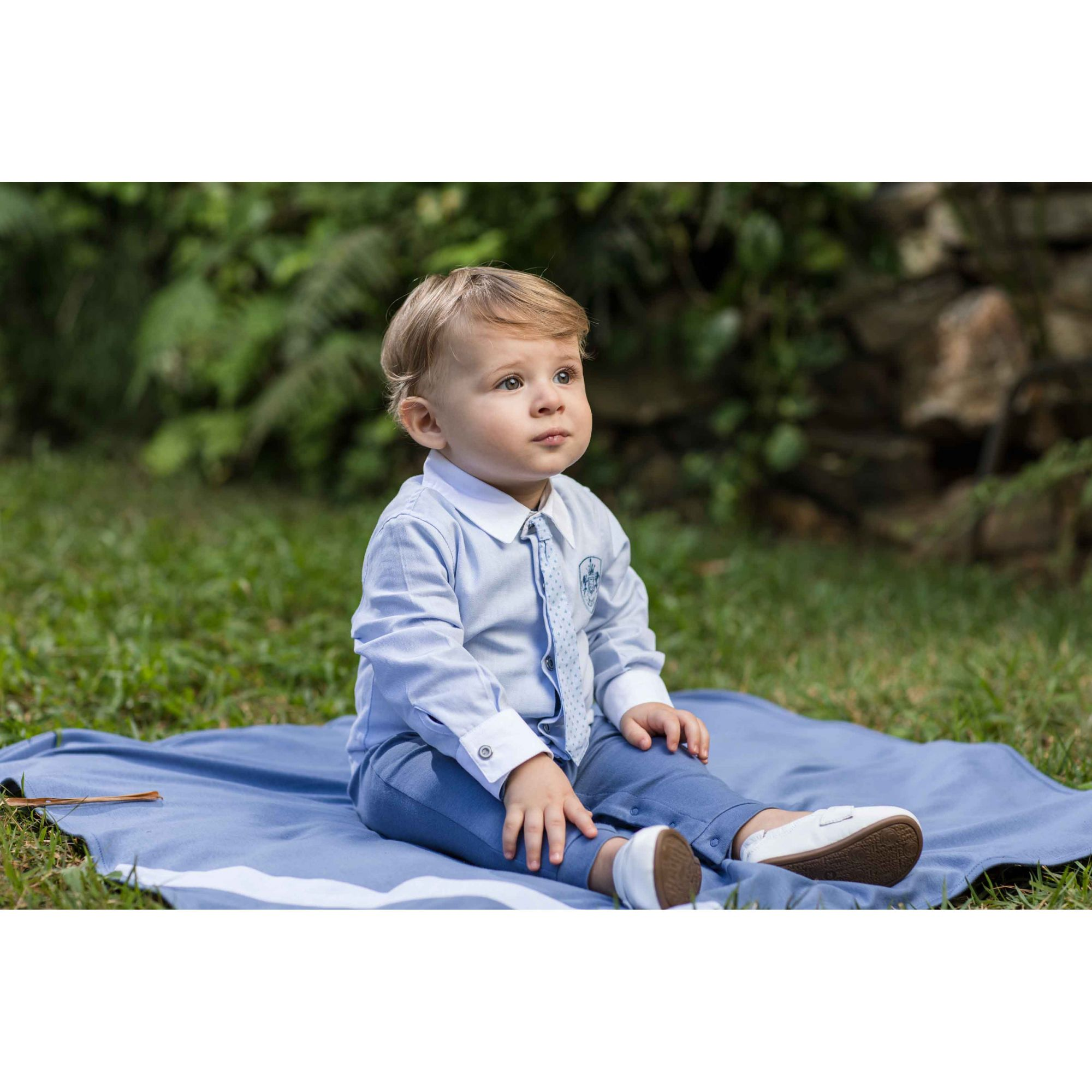 Conjunto Maternidade Masculino Sem Forro Camisa