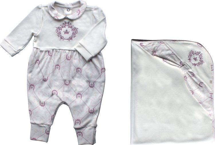 Conjunto Maternidade Feminino Sem Forro Estampa Coroas