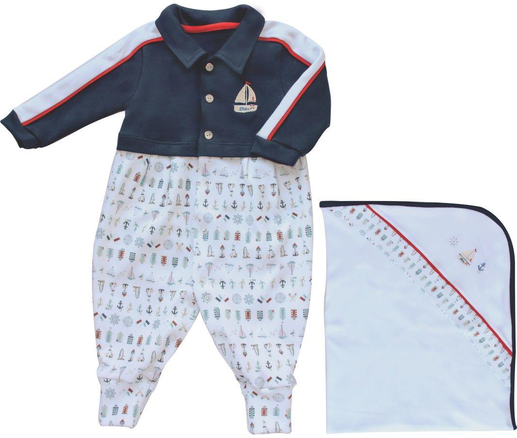 Conjunto Maternidade Masculino Sem Forro Mini Navy