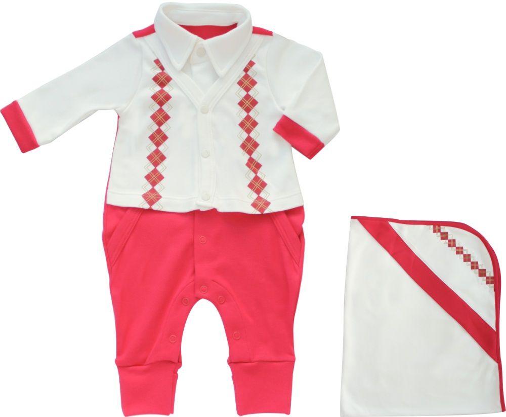 Conjunto Maternidade Masculino Sem Forro Vermelho