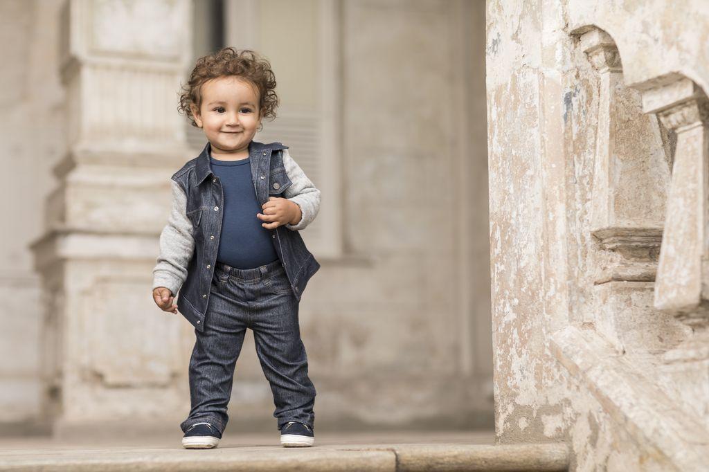 Jaqueta Masculina Jeans Com Metalassê Bebê