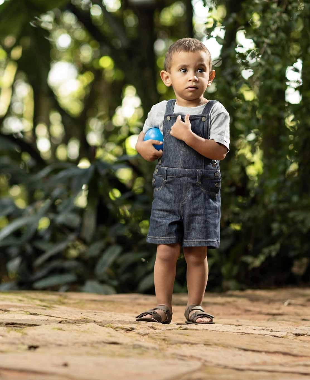 Jardineira Jeans Unissex longa Comfort Denim Bebê