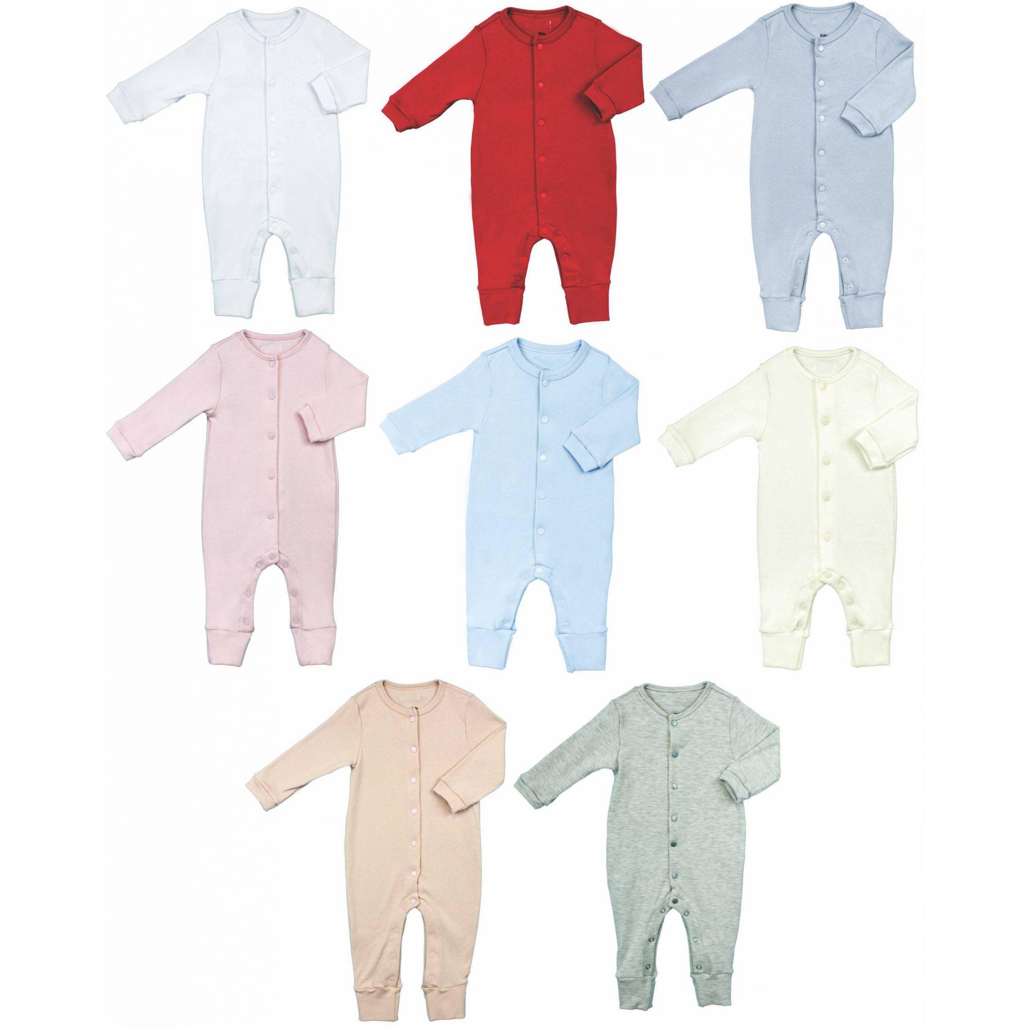 Macacão Unissex Bebê Básico Aberto na frente 100% Algodão Egípcio BY BIBE