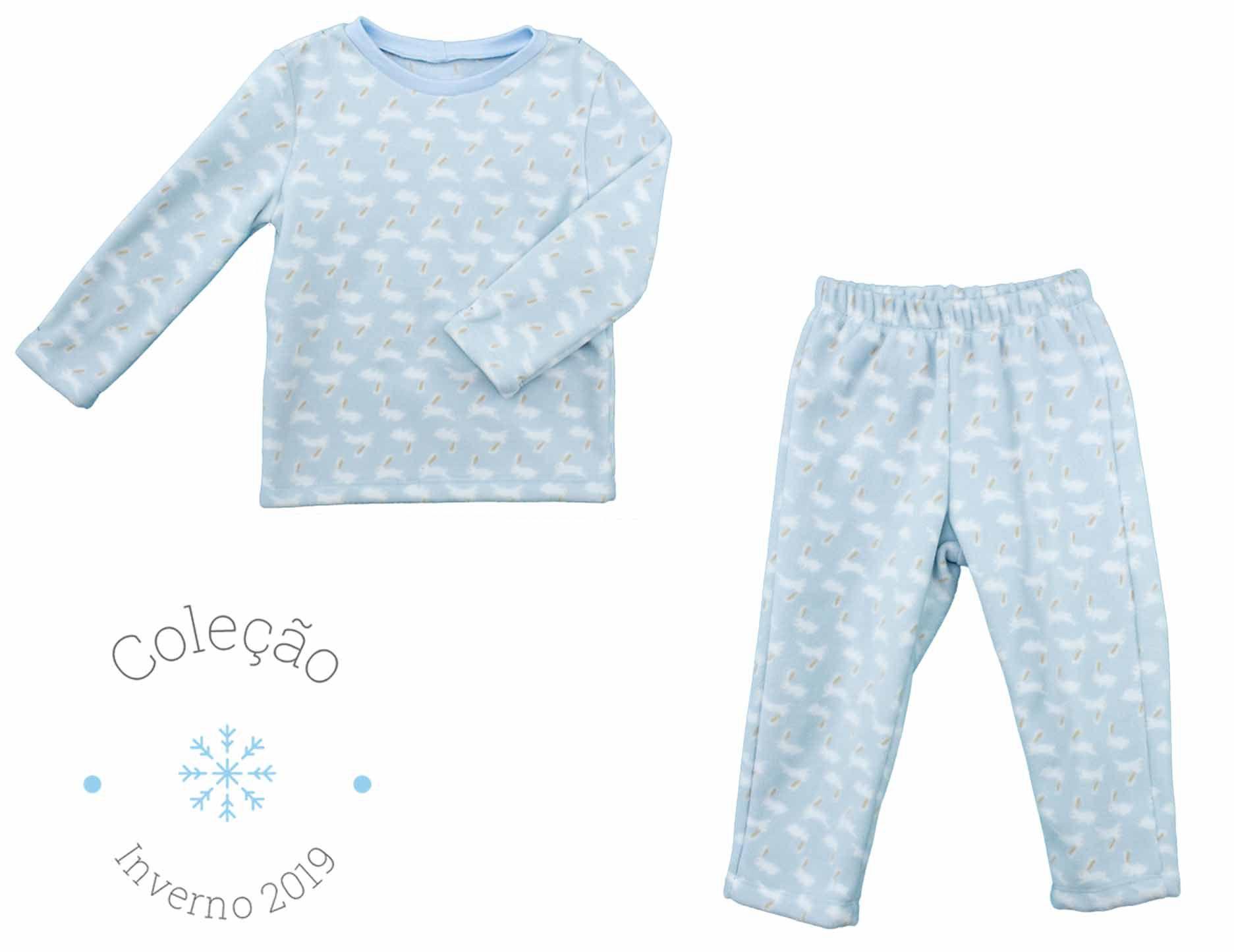 Pijama Masculino Soft  Estampa Coelhinhos Infantil