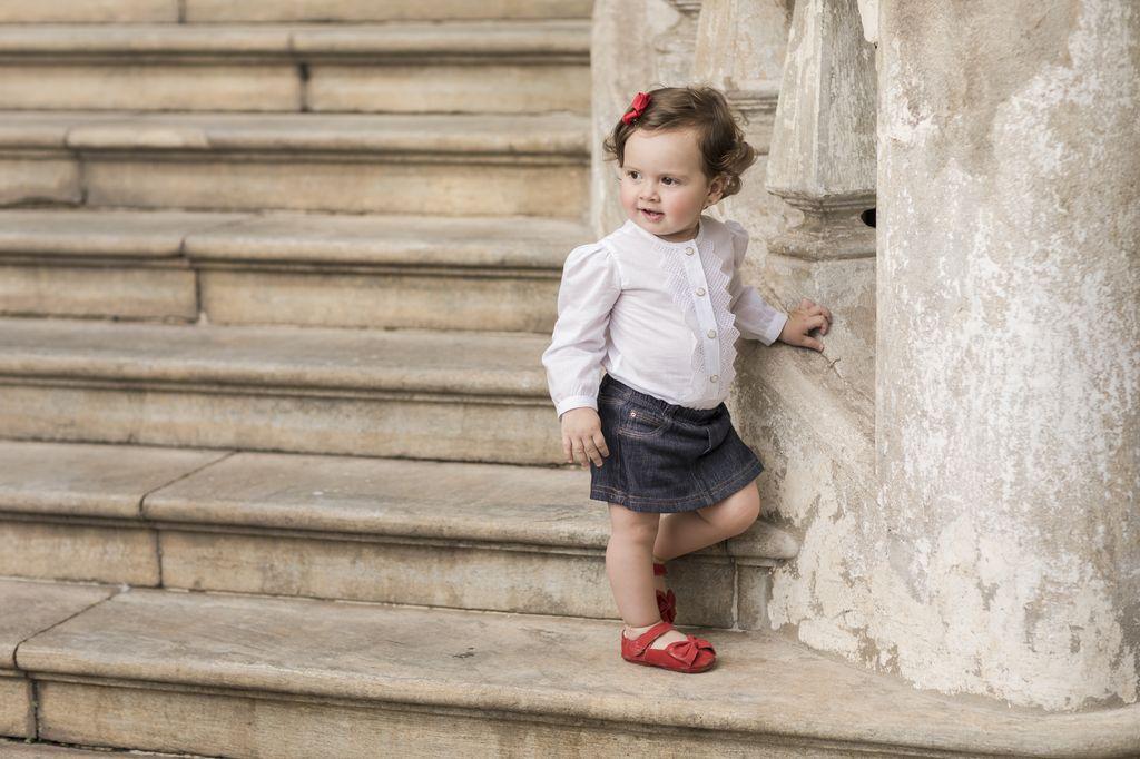 Short Saia Jeans Bebê Feminino