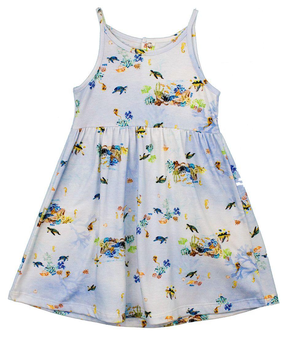 15982a5b0 Vestido Alcinha Estampa Digital Tartarugas Infantil - Loja Online Bibe