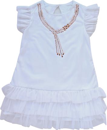 Vestido Feminino Manga Curta Branco