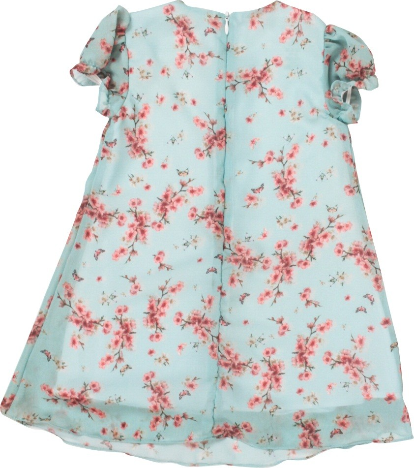 Vestido Feminino Manga Curta Chiffon Primavera Infantil