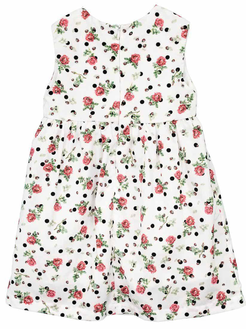 Vestido Manga Curta Estampa Digital Poa Rosa Infantil