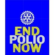 CAMISETA POLO - LOGO AND POLIO NOW - COR AZUL ROYAL