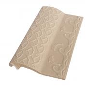 Borda de Piscina de Cerâmica Golfinho Bege 12x25