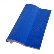 Borda de Piscina de Cerâmica Pastilhado Azul Royal 12x25