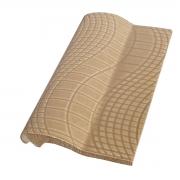 Borda de Piscina de Cerâmica Pastilhado Bege 12x25