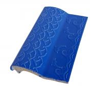 Kit 10 Bordas de Piscina de Cerâmica Golfinho Azul Royal 12x25