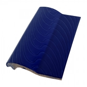 Kit 10 Bordas de Piscina de Cerâmica Sithal Azul Cobalto 12x25