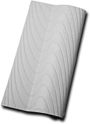 Kit 120 Borda Sithal Branco 12x25cm