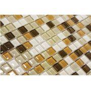 Pastilha  de Vidro com Pedras Naturais e Metais TS 457