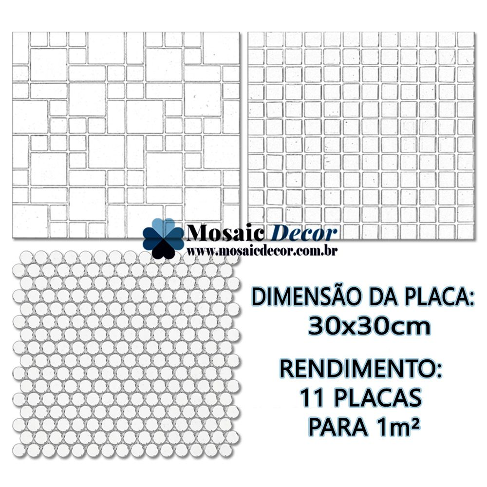 Kits 11 Pastilhas de Vidro Cristal SM 030