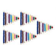 5 Conjuntos de Escadas de Contas Coloridas de 1 a 9