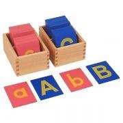 Letras de Lixa Bastão Minúsculas e Maiúsculas com Caixa